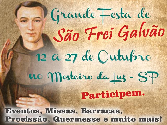 Vem Aí! Festa de São Frei Galvão